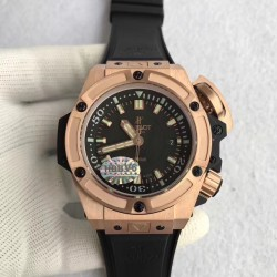 Replica Hublot Big Bang King Power Musee Oceanographique Monaco 731.OX.1170.RX HBB V6 Rose Gold Black Dial Swiss 7750
