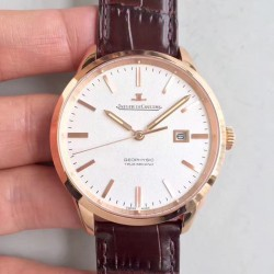 Replica Jaeger-LeCoultre Geophysic True Second 8012520 N Rose Gold White Dial Swiss Calibre 770