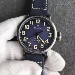Replica Zenith Pilot Type 20 Extra Special Ton Up 45MM 11.2430.679.21.C801 XF Stainless Steel Blue Dial M9015