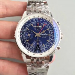 Replica Breitling Navitimer Montbrillant Datora A21330 JF Stainless Steel Blue Dial Swiss 7750