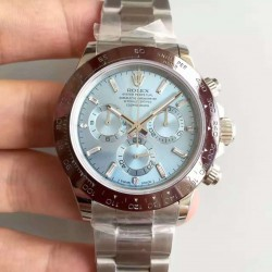 Replica Rolex Daytona Cosmograph 116506 JH Stainless Steel Ice Blue Dial Swiss 4130 Run 6@SEC