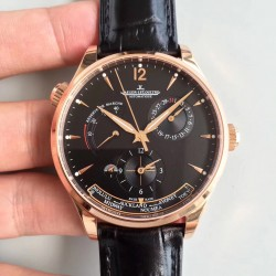 Replica Jaeger-LeCoultre Master Geographic Gold 1422521 BF Rose Gold Black Dial Swiss Caliber 939A/1