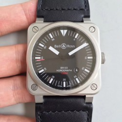 Replica Bell & Ross BR 03-92 Horolum Limited Edition BR Stainless Steel Black Dial M9015
