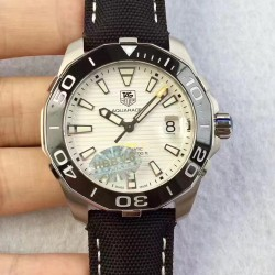 Replica Tag Heuer Aquaracer Calibre 5 WAY211A.FC6362 HBB V6 Stainless Steel White Dial Swiss 2824-2