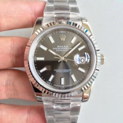 Replica Rolex Datejust II 126334 41MM N Stainless Steel Anthracite Dial Swiss 3235