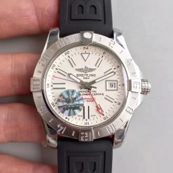 Replica Breitling Avenger II GMT A3239011/G778/153S GF Stainless Steel White Dial Swiss 2836-2