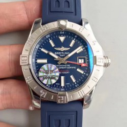 Replica Breitling Avenger II GMT A3239011/BC35/170A GF Stainless Steel Blue Dial Swiss 2836-2