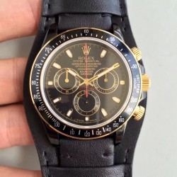 Replica Rolex Daytona Cosmograph Kravitz Design LK 01 RL Ceramic Black Dial Swiss 4130 Run 6@SEC