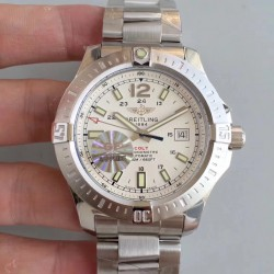 Replica Breitling Colt Automatic 44MM A1738811-G791 GF Stainless Steel White Dial Swiss 2824-2