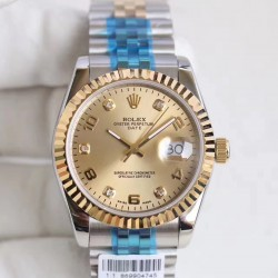 Replica Rolex Datejust 36 116233 36MM N Stainless Steel & Yellow Gold Champagne Dial Swiss 2836-2