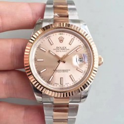 Replica Rolex Datejust II 116333 41MM EW Stainless Steel & Rose Gold Rose Gold Dial Swiss 3136