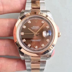 Replica Rolex Datejust II 116333 41MM EW Stainless Steel & Rose Gold Chocolate Dial Swiss 3136