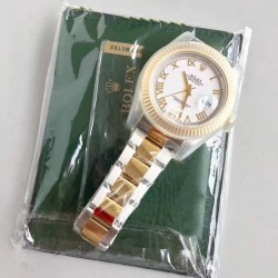 Replica Rolex Datejust II 116333 41MM EW Stainless Steel & Yellow Gold White Dial Swiss 3136
