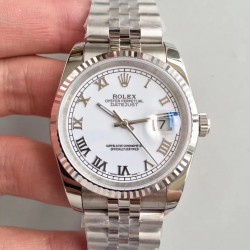 Replica Rolex Datejust 36MM 116234 MIT Stainless Steel 904L White Dial Swiss 3135