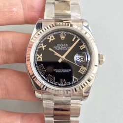 Replica Rolex Datejust 36MM 116234 AR Stainless Steel 904L Black Dial Swiss 3135