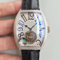 Replica Franck Muller Cintree Curvex Imperial Tourbillon 8880 T ABF Stainless Steel & Diamonds Diamond Dial Swiss Tourbillon