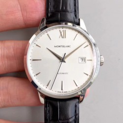 Replica Montblanc Heritage Spirit Date Automatic 111622 ER Stainless Steel Silver Dial Swiss MB 24.17