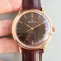 Replica Zenith Elite 6150 150TH Anniversary 18.2270.6150/01.C498 ND Rose Gold Chocolate Dial Swiss Elite 6150