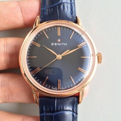 Replica Zenith Elite 6150 150TH Anniversary 18.2270.6150/01.C498 ND Rose Gold Blue Dial Swiss Elite 6150