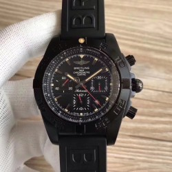 Replica Breitling Chronomat 44 Blacksteel MB0111C3/BE35 GF PVD Black Dial Swiss 7750