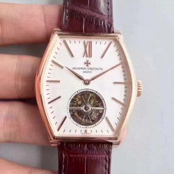 Replica Vacheron Constantin Malte Tourbillon 30130/000R-9754 JF Rose Gold White Dial Swiss 2795