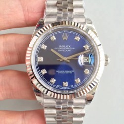 Replica Rolex Datejust II 126334 41MM 2018 EW Stainless Steel Blue Dial Swiss 3235