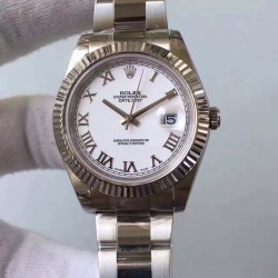 Replica Rolex Datejust II 116334 2018 41MM EW Stainless Steel White Dial Swiss 3136