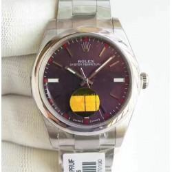 Replica Rolex Oyster Perpetual 39 114300 2018 UB Stainless Steel Red Dial Swiss 2836-2