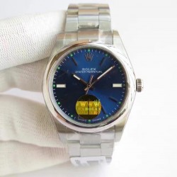Replica Rolex Oyster Perpetual 34 114300 2018 UB Stainless Steel Blue Dial Swiss 2836-2