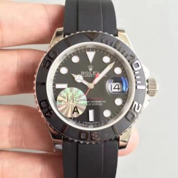 Replica Rolex Yacht-Master 40 116655 2018 JF Stainless Steel Black Dial Swiss 3135