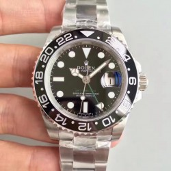 Replica Rolex GMT-Master II 116710LN V7 Stainless Steel Black Dial Swiss 3186