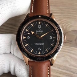 Replica Omega Seamaster 300M Co-Axial 41MM 233.62.41.21.01.002 XF Rose Gold Black Dial Swiss 8401