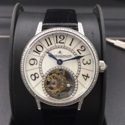 Replica Jaeger-LeCoultre Rendez-Vous Tourbillon 3413408 N Stainless Steel & Diamonds Mother Of Pearl Dial Swiss Tourbillon