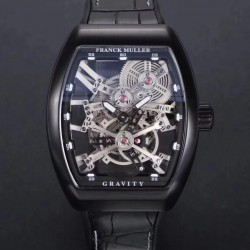 Replica Franck Muller Vanguard Gravity Skeleton V 45 T GRAVITY CS SQT N PVD Skeleton Dial M9015
