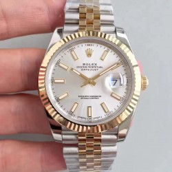 Replica Rolex Datejust II 116333 41MM EW Stainless Steel & Yellow Gold Rhodium Dial Swiss 3136