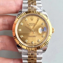 Replica Rolex Datejust II 116333 41MM EW Stainless Steel & Yellow Gold Champagne Dial Swiss 3235