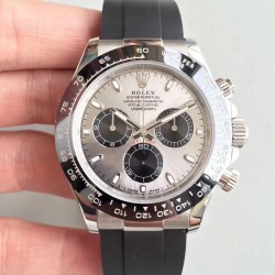 Replica Rolex Daytona Cosmograph 116519LN AR Stainless Steel 904L Silver Dial Swiss 4130 Run 6@SEC