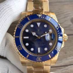 Replica Rolex Submariner Date 116618LB VR 18K Yellow Gold Wrapped Blue Dial Swiss 2836-2