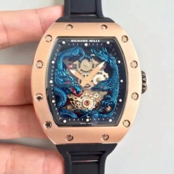 Replica Richard Mille RM57-01 Jackie Chan Rose Gold Blue Dial M9015