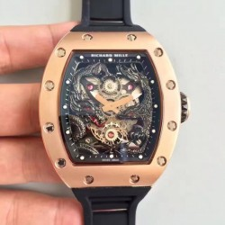 Replica Richard Mille RM57-01 Jackie Chan Rose Gold Black Dial Dial M9015