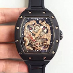 Replica Richard Mille RM57-01 Jackie Chan PVD Rose Gold Dial Dial M9015