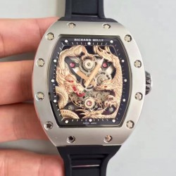 Replica Richard Mille RM57-01 Jackie Chan Stainless Steel Rose Gold Dial M9015