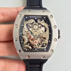 Replica Richard Mille RM57-01 Jackie Chan Stainless Steel Silver Dial M9015