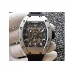 Replica Richard Mille RM022 Aerodyne Dual Time Zone Titanium Skeleton Dial M9015