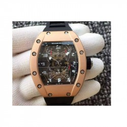 Replica Richard Mille RM022 Aerodyne Dual Time Zone Rose Gold Skeleton Dial M9015