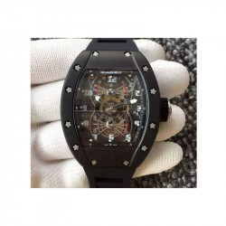 Replica Richard Mille RM022 Aerodyne Dual Time Zone PVD Skeleton Dial M9015