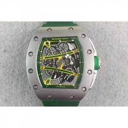 Replica Richard Mille RM61 Titanium Green Skeleton Dial M9015
