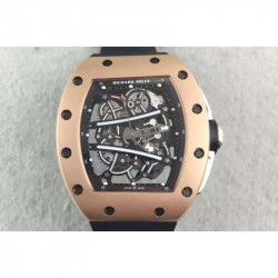 Replica Richard Mille RM61 Rose Gold Skeleton Dial M9015