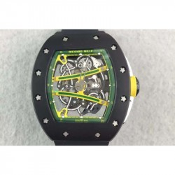 Replica Richard Mille RM61 PVD Green Skeleton Dial M9015