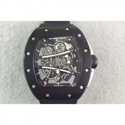 Replica Richard Mille RM61 PVD Black Skeleton Dial M9015